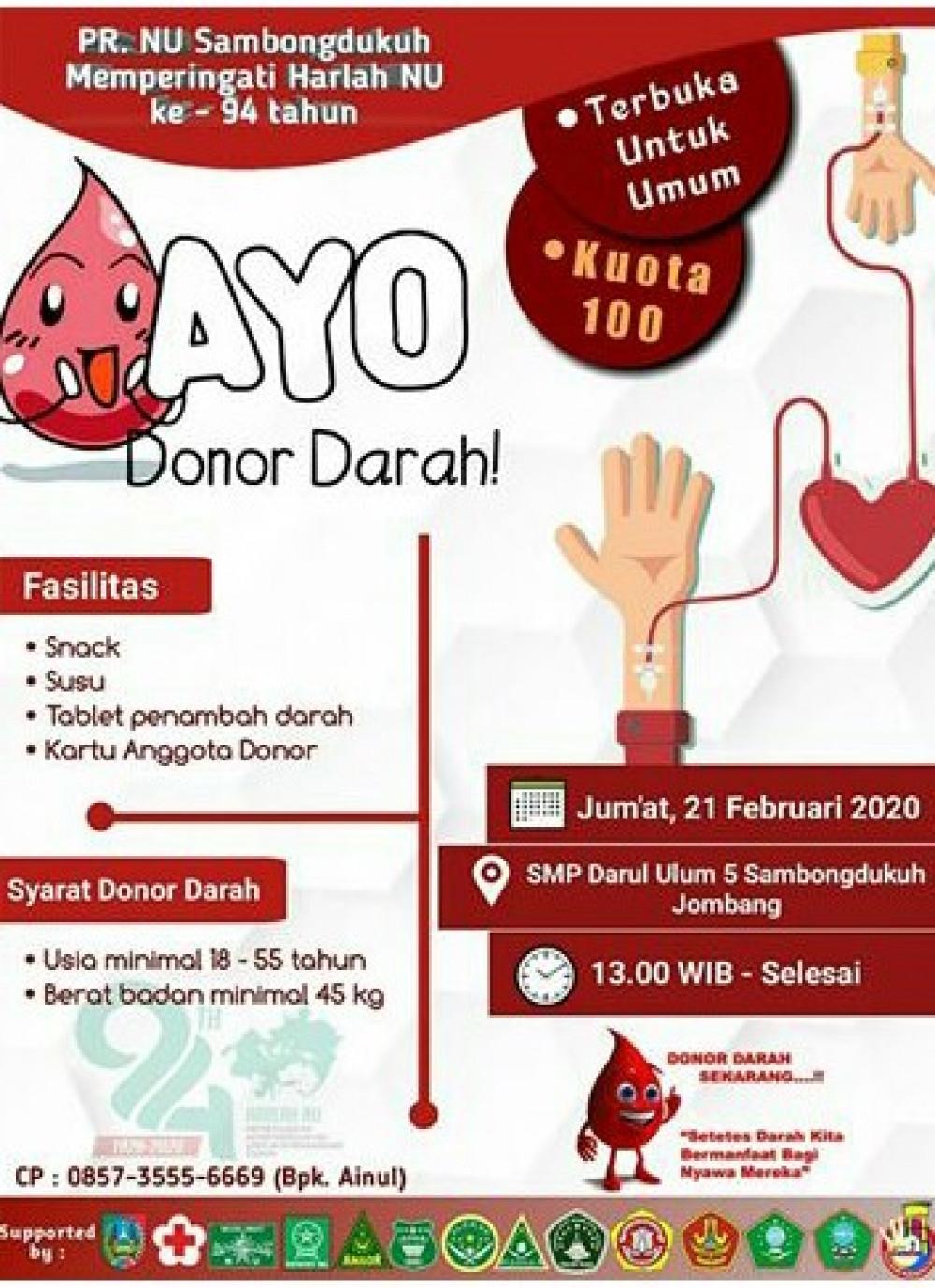Donor Darah PR Sambongdukuh Jombang