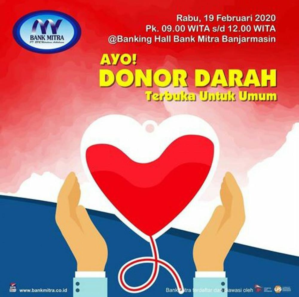 Donor Darah Bank Mitra Banjarmasin
