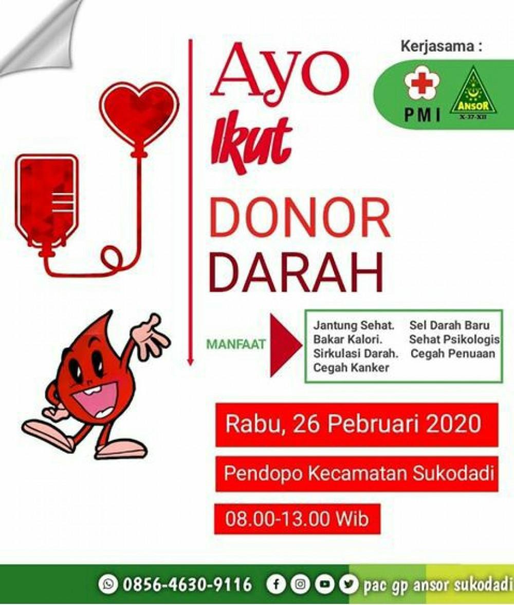 Donor Darah GP Ansor Kec. Sukodadi