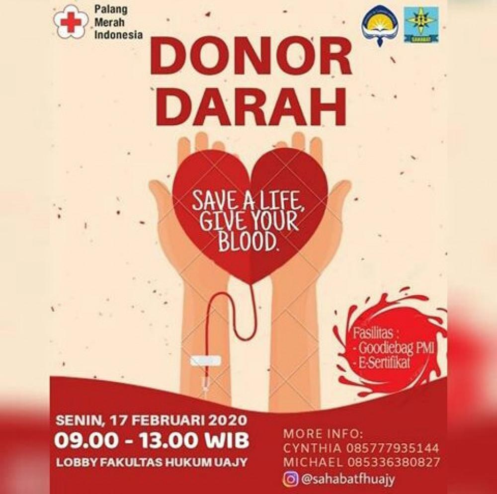 Donor Darah Fak. Hukum Univ. Atmajaya Jogja