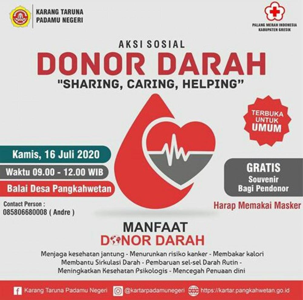 Aksi Sosial Donor Darah Sharing, Caring, Helping
