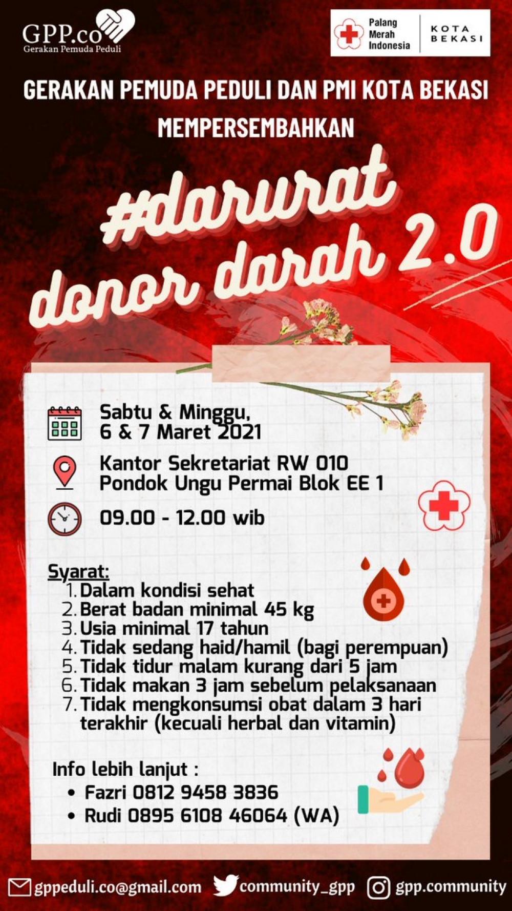 Donor Darah GPP Bekasi