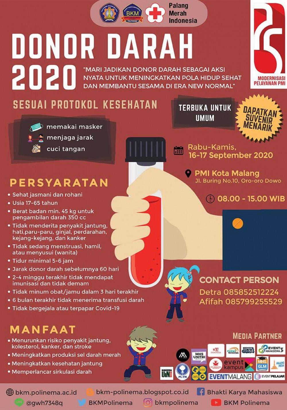 Donor Darah PMI Kota Malang