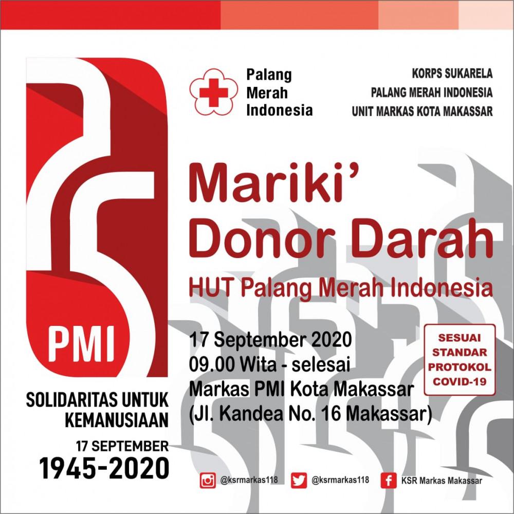 HUT PMI di PMI Kota Makassar