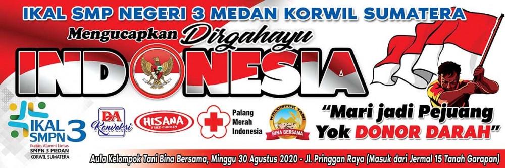 Donor Darah IKAL SMPN 3 Medan Korwil Sumatera