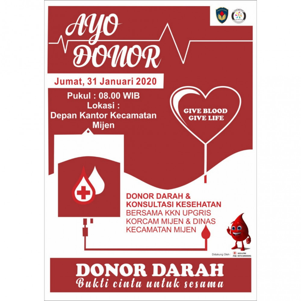 Donor Darah & Konsultasi Kesehatan Kecamatan Mijen, Kota Semarang