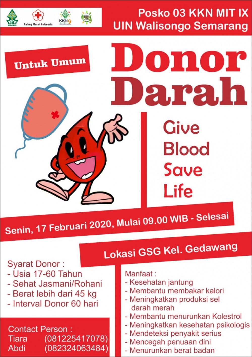 Donor Darah KKN MIT IX UIN Walisongo Semarang