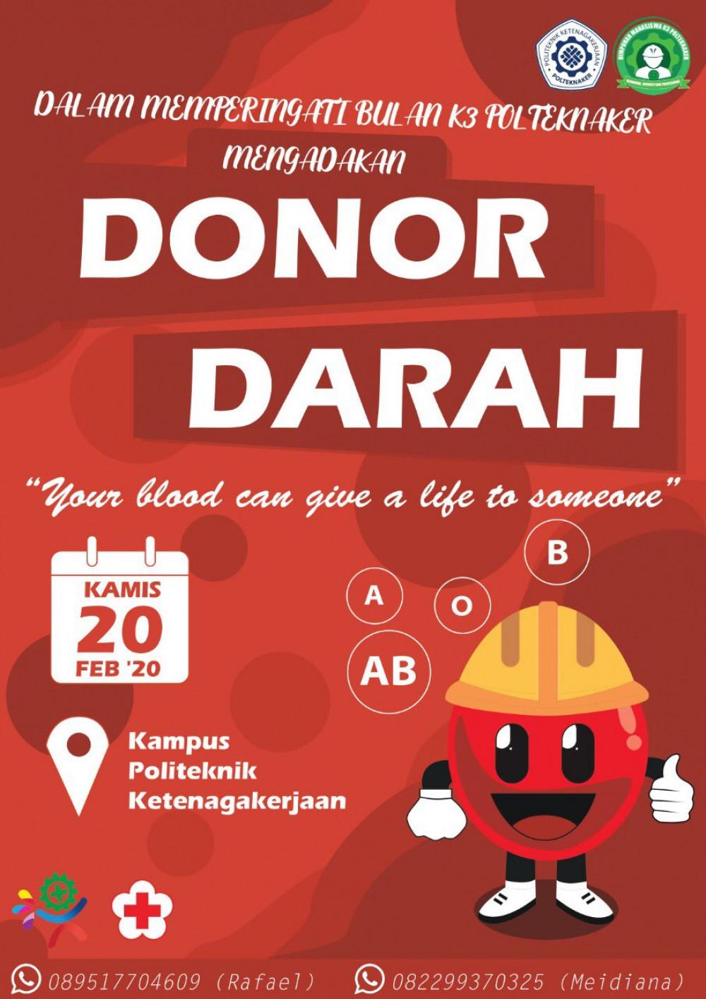 Donor Darah Politeknik Ketenagakerjaan