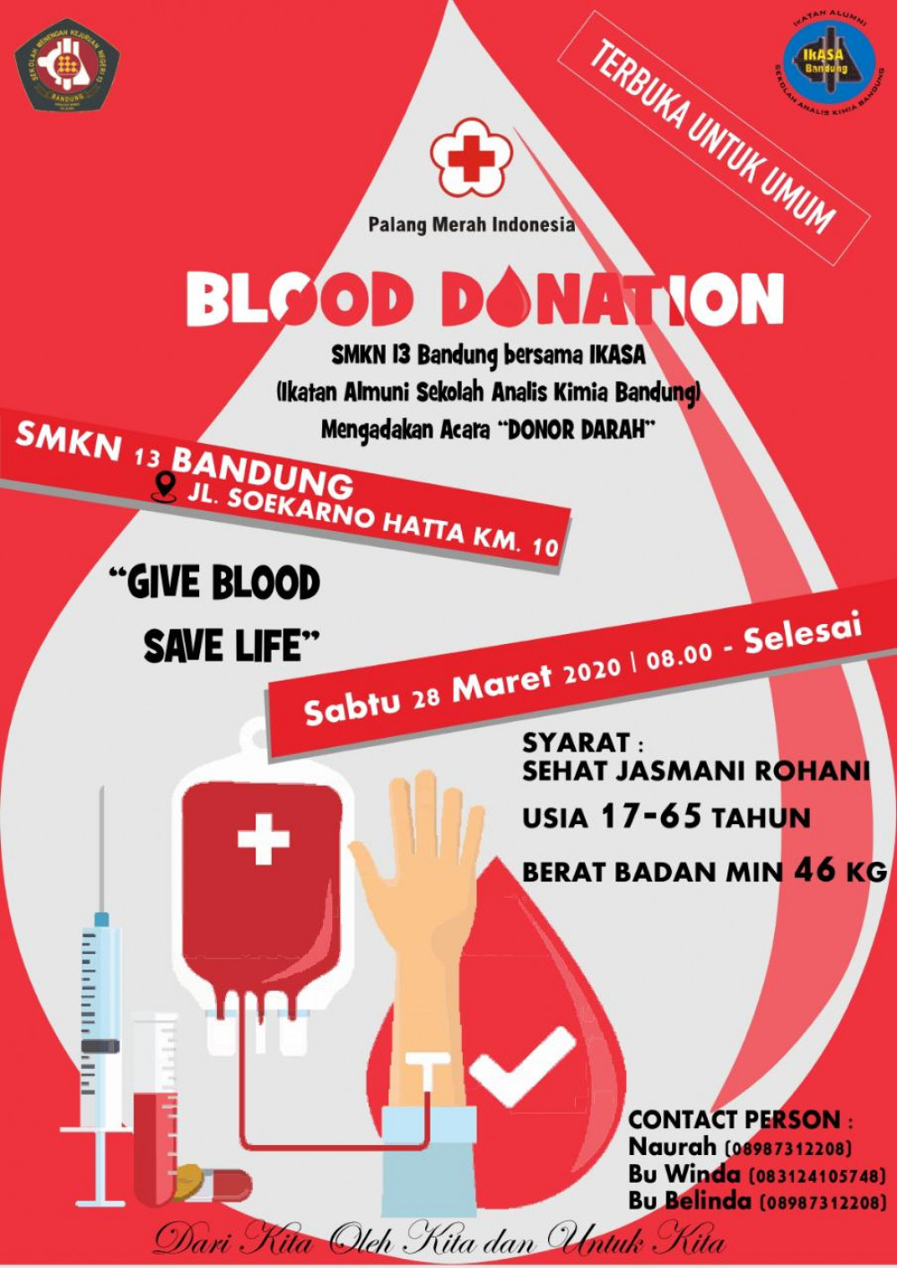 Blood Donation SMKN 13 Bandung