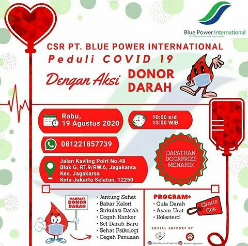 Peduli Covid-19 dengan Aksi Donor Darah