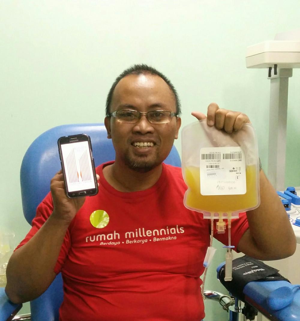 Pembuktian selama 2 minggu ini, melihat jeleknya hasil Donor Darah Apheresis awal bulan kemarin.